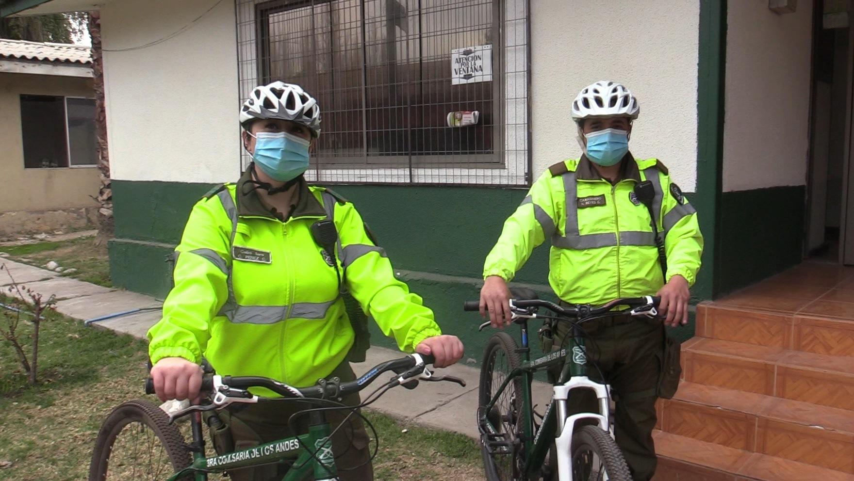 CALLE LARGA: Carabineros inició patrullajes en bicicleta por la comuna